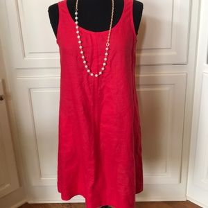 J. Jill Red Linen Jumper in Excellent Condition
